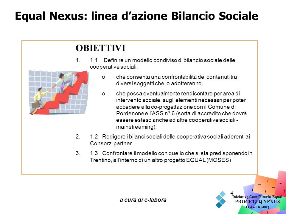 Equal Nexus: linea d'azione Bilancio Sociale