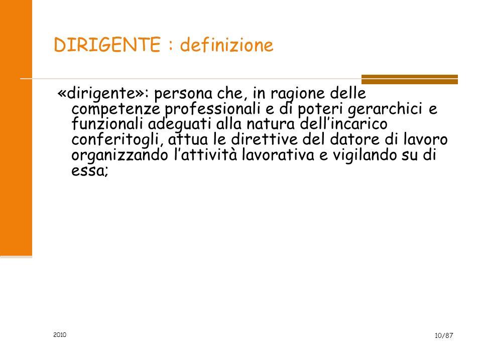 DIRIGENTE : definizione