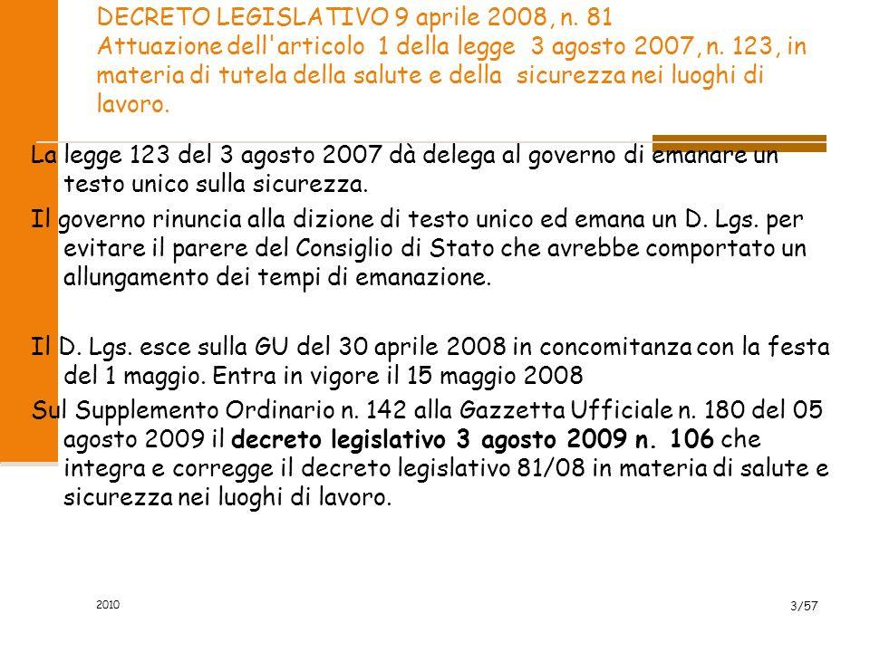 DECRETO LEGISLATIVO 9 aprile 2008, n