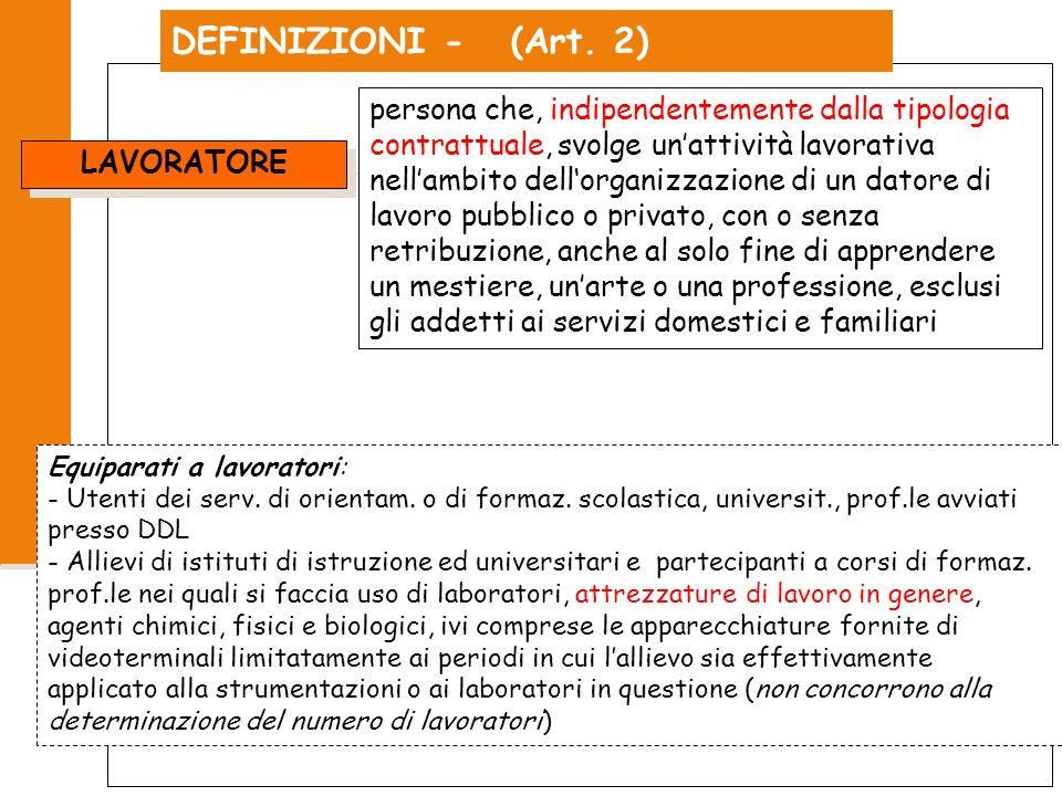 DEFINIZIONI - (Art. 2)