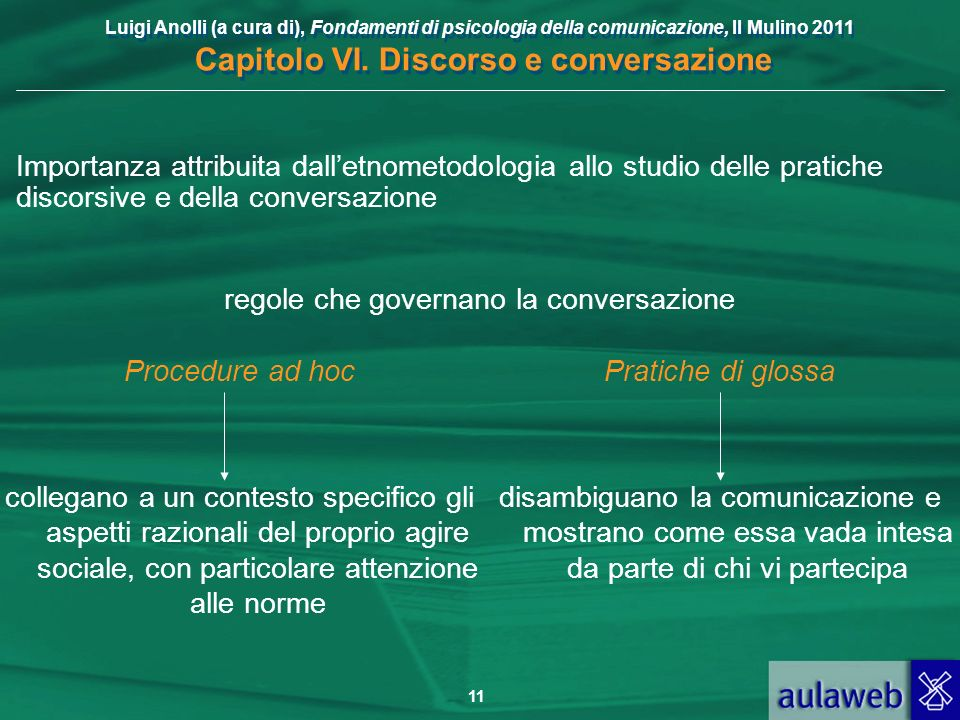 regole che governano la conversazione