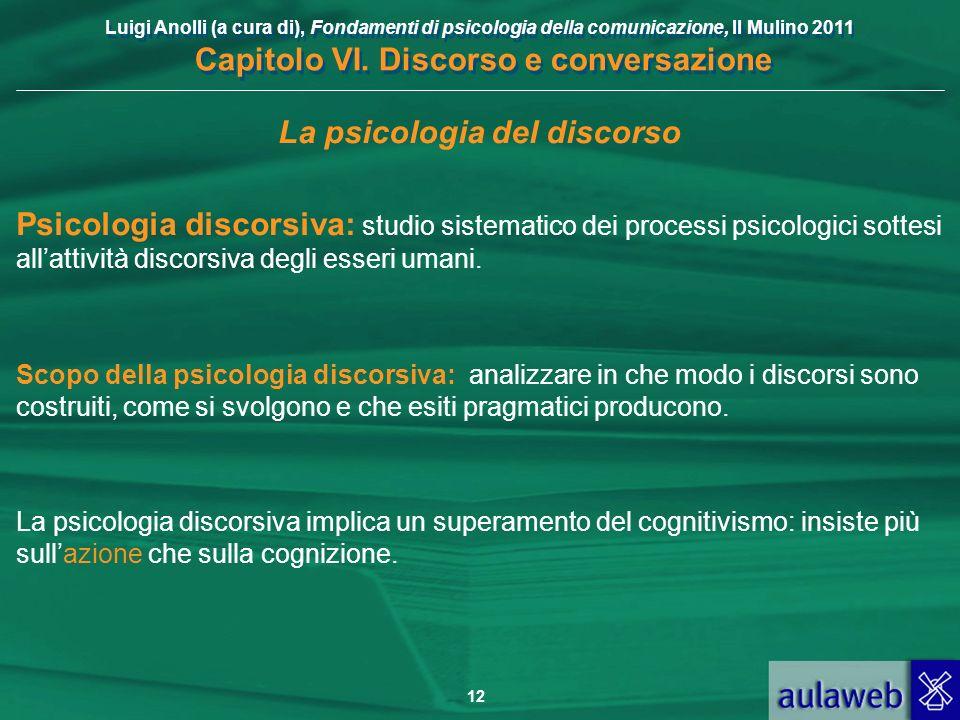 La psicologia del discorso