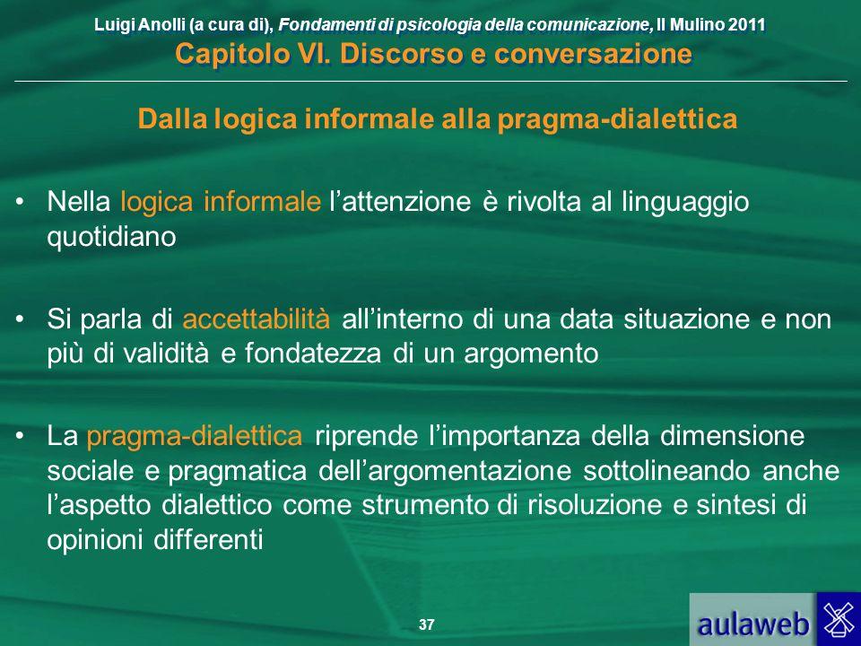 Dalla logica informale alla pragma-dialettica