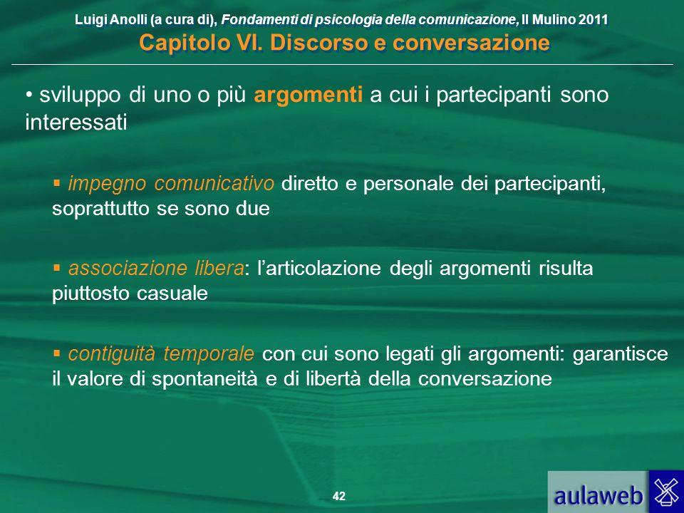 sviluppo di uno o più argomenti a cui i partecipanti sono interessati