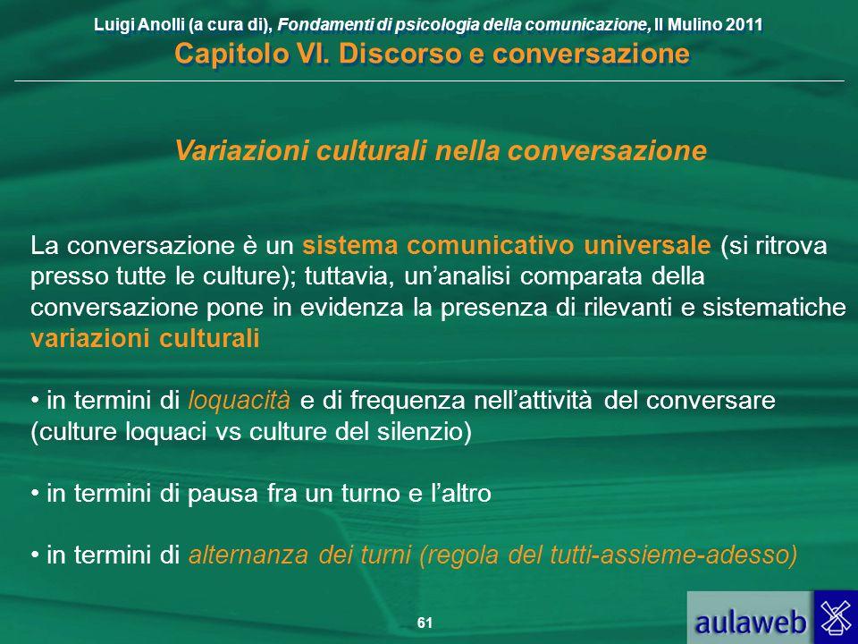 Variazioni culturali nella conversazione