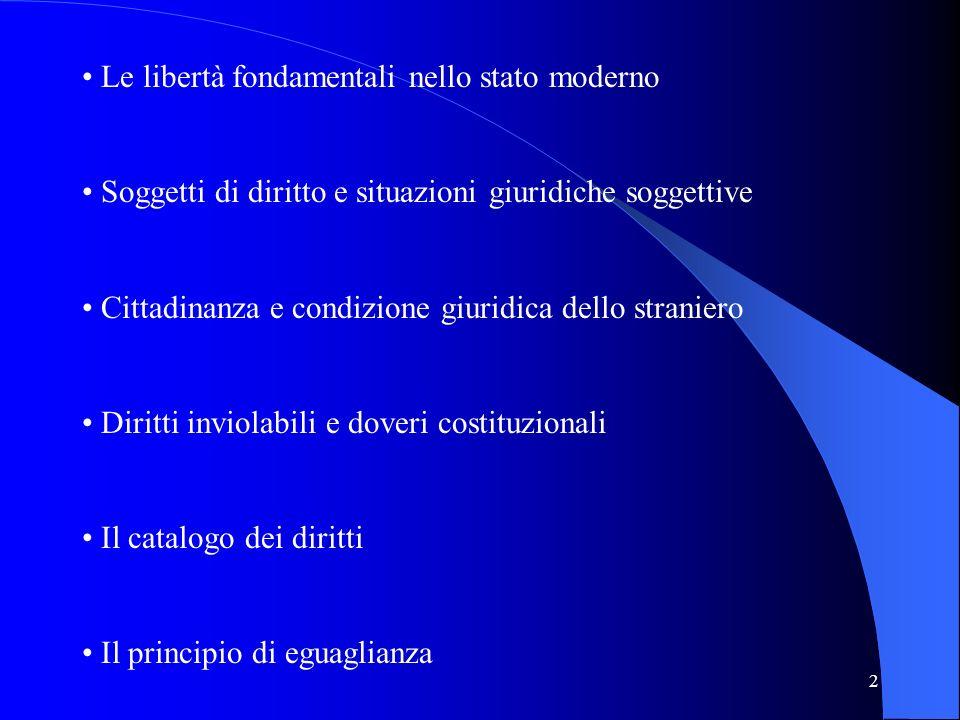 Le libertà fondamentali nello stato moderno