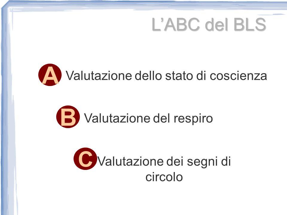 A B C L'ABC del BLS Valutazione dello stato di coscienza