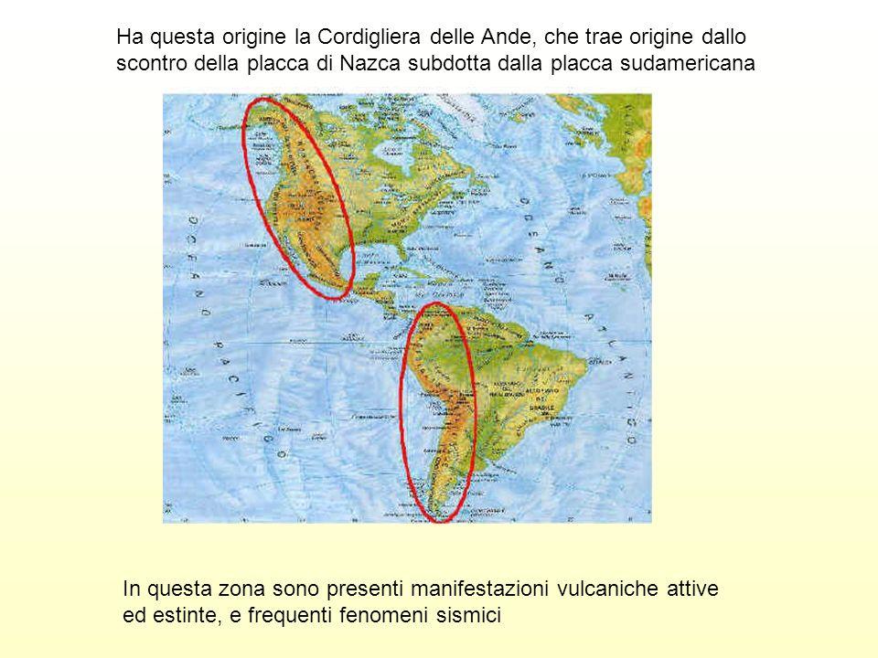 Ha questa origine la Cordigliera delle Ande, che trae origine dallo scontro della placca di Nazca subdotta dalla placca sudamericana