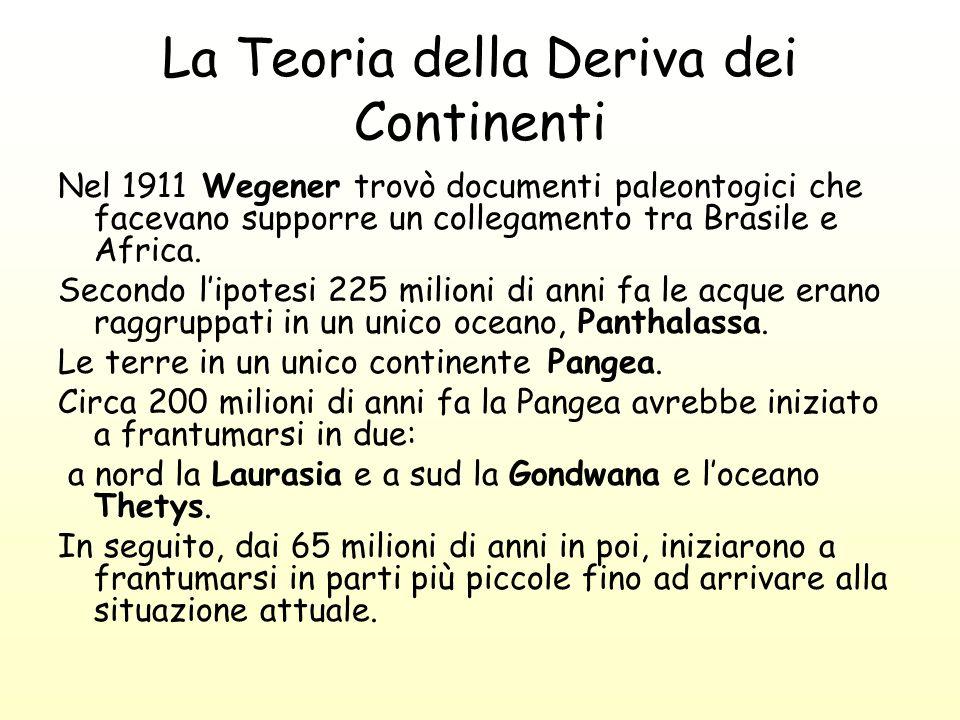 La Teoria della Deriva dei Continenti