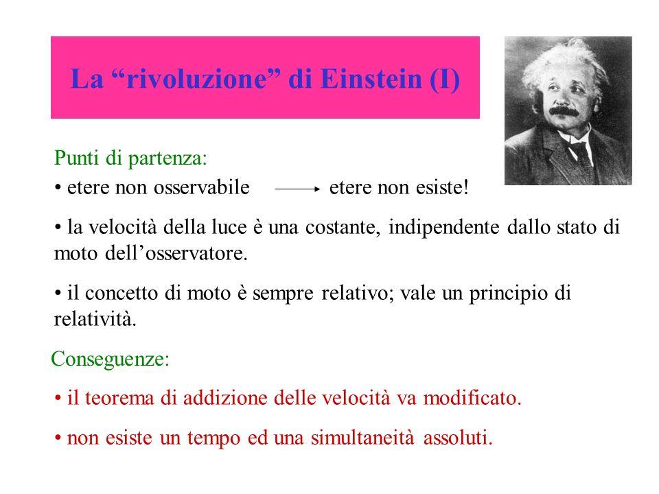La rivoluzione di Einstein (I)