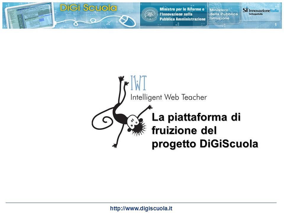 La piattaforma di fruizione del progetto DiGiScuola