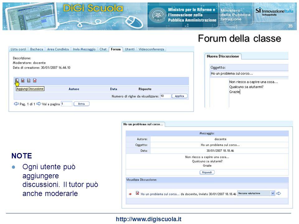 Forum della classe NOTE