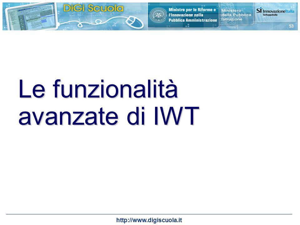 Le funzionalità avanzate di IWT