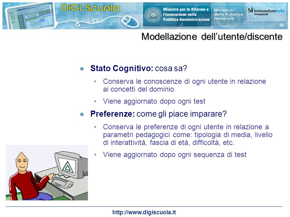 Modellazione dell'utente/discente