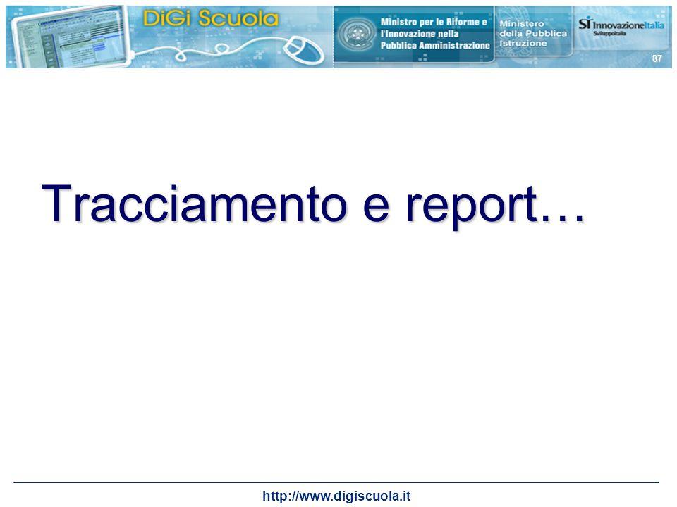 Tracciamento e report…