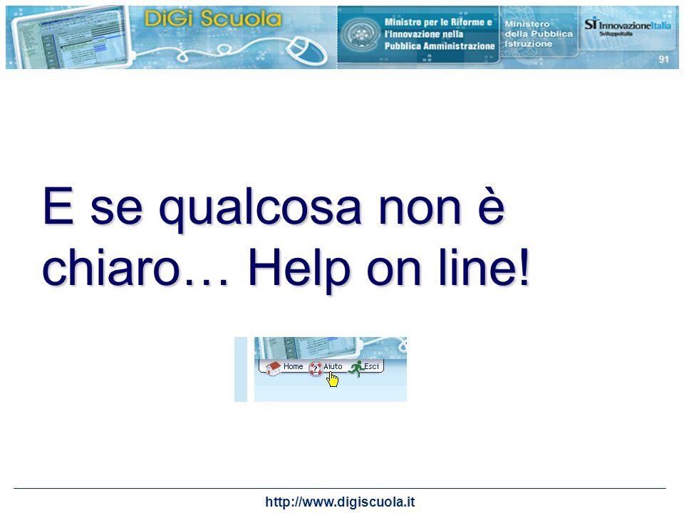 E se qualcosa non è chiaro… Help on line!