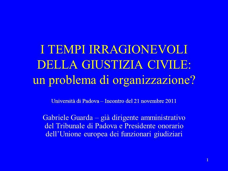 Università di Padova – Incontro del 21 novembre 2011