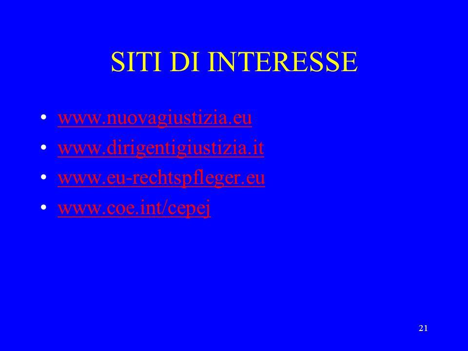 SITI DI INTERESSE www.nuovagiustizia.eu www.dirigentigiustizia.it
