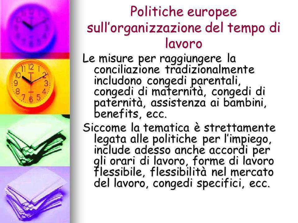 Politiche europee sull'organizzazione del tempo di lavoro