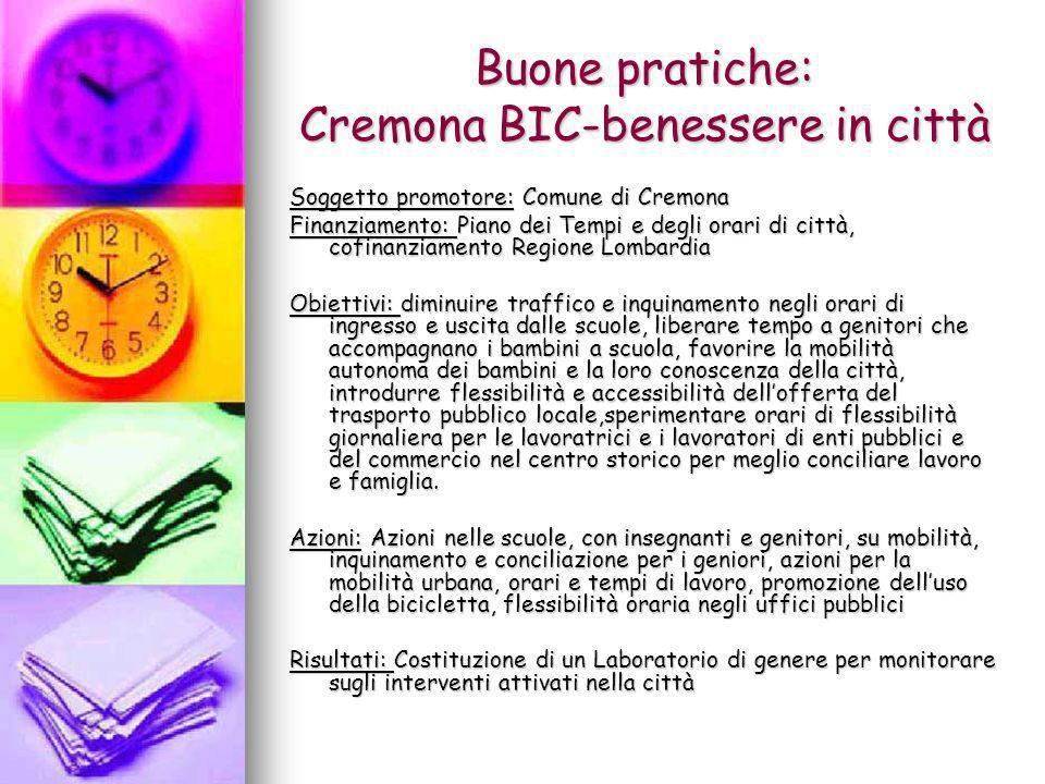Buone pratiche: Cremona BIC-benessere in città