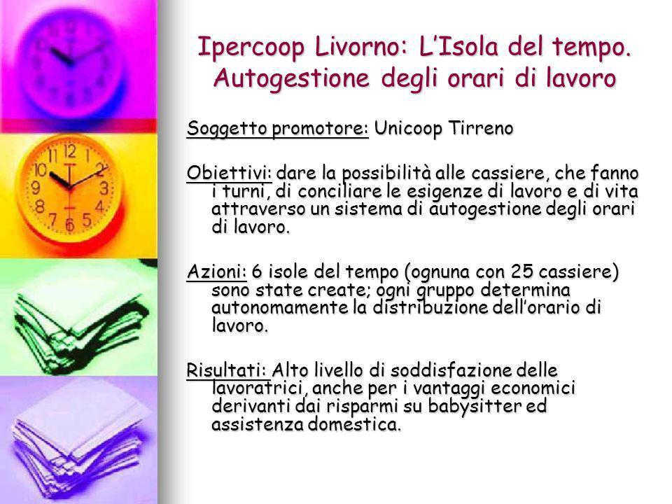 Ipercoop Livorno: L'Isola del tempo. Autogestione degli orari di lavoro