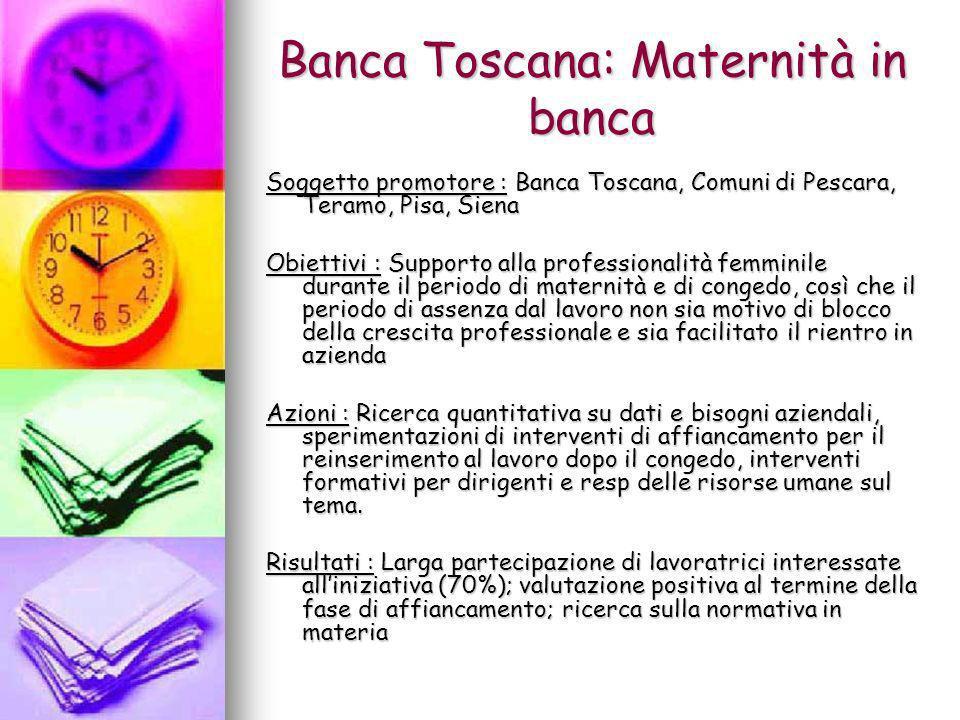 Banca Toscana: Maternità in banca