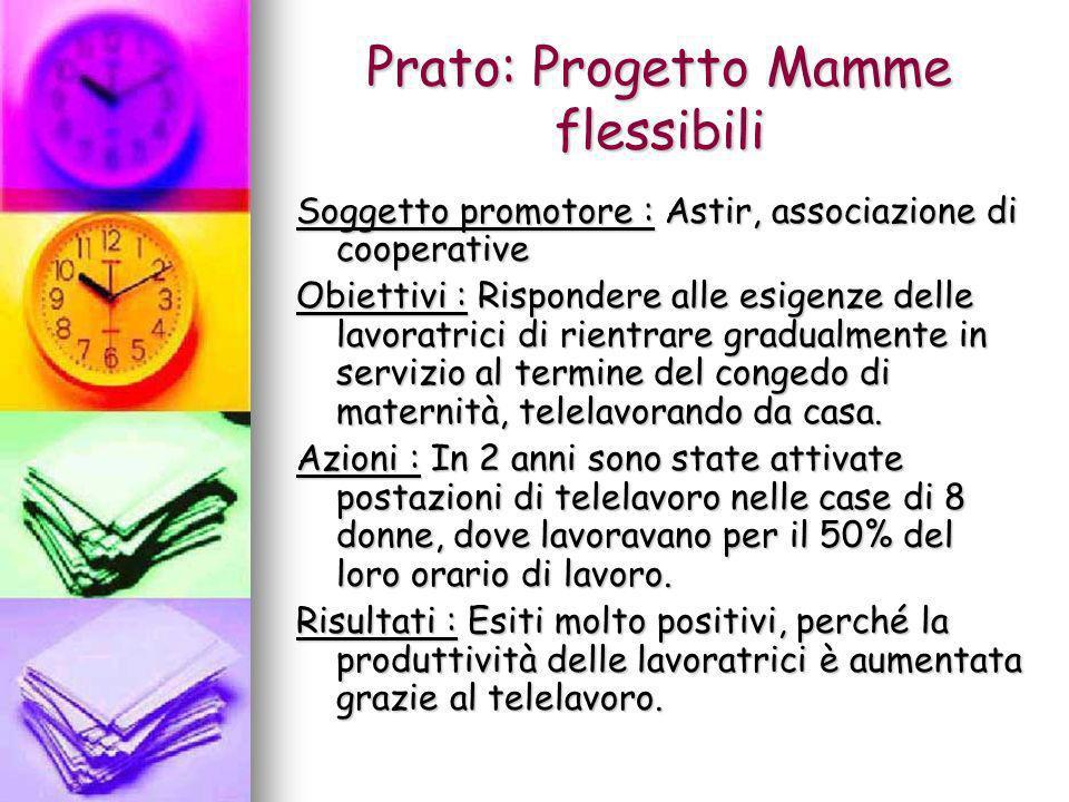 Prato: Progetto Mamme flessibili