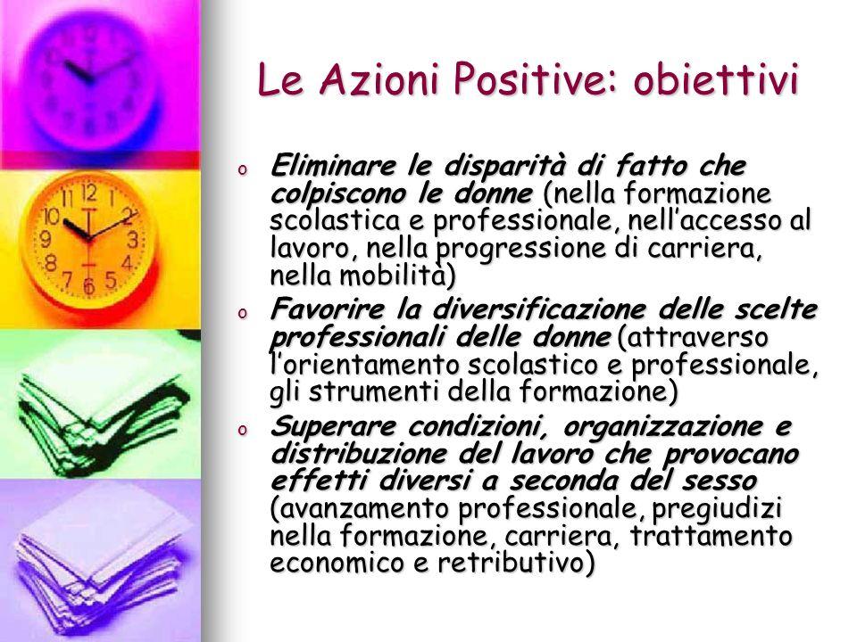 Le Azioni Positive: obiettivi