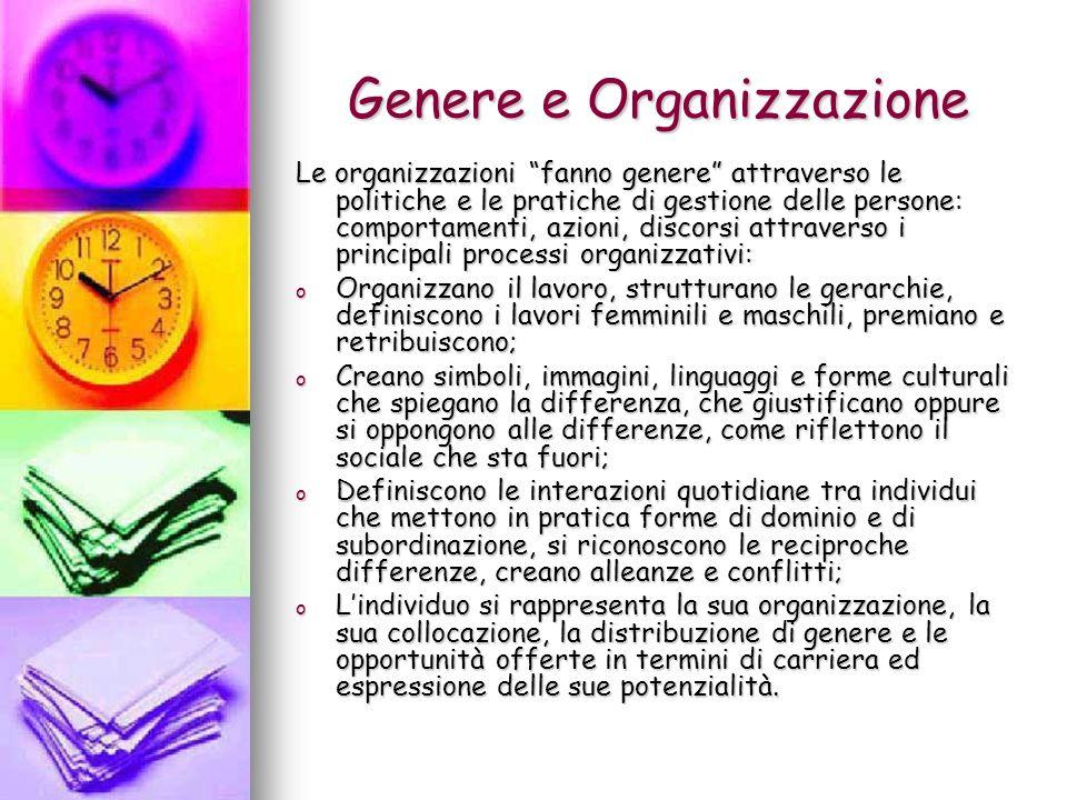 Genere e Organizzazione