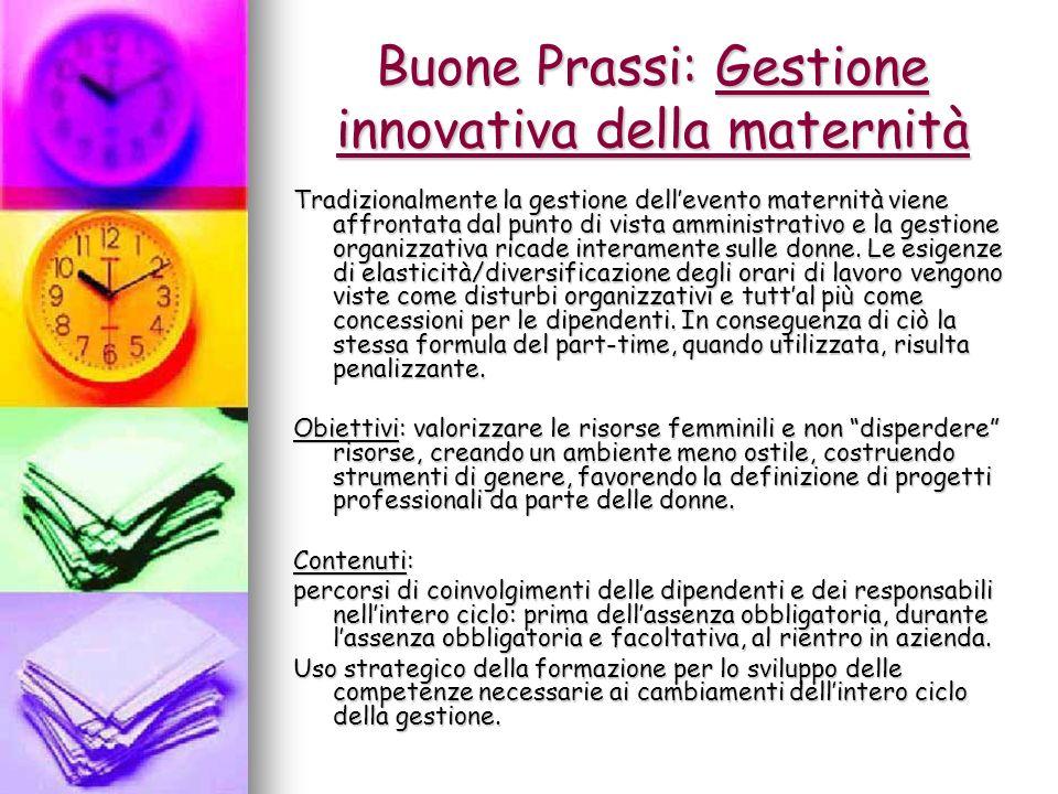 Buone Prassi: Gestione innovativa della maternità