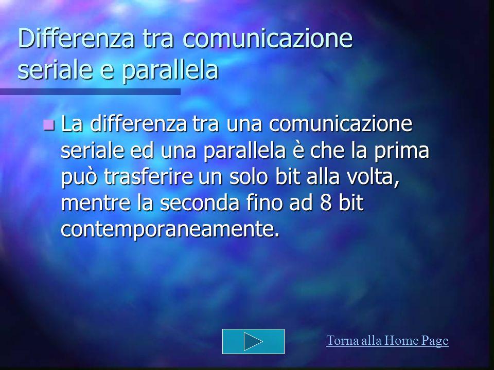Differenza tra comunicazione seriale e parallela
