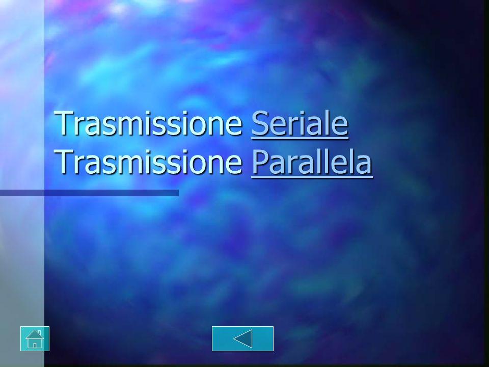 Trasmissione Seriale Trasmissione Parallela