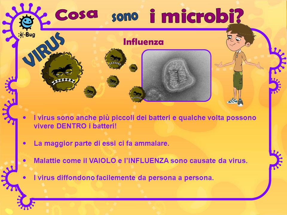 Influenza Cosa i microbi sono VIRUS