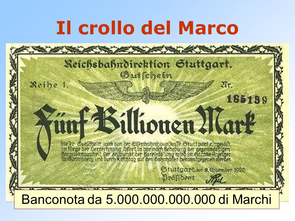 Nel novembre del 1923 per acquistare un dollaro occorrono