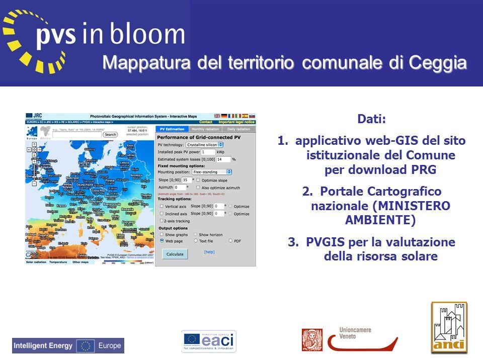 Mappatura del territorio comunale di Ceggia