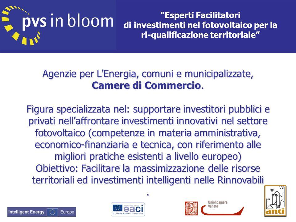 Agenzie per L'Energia, comuni e municipalizzate, Camere di Commercio.