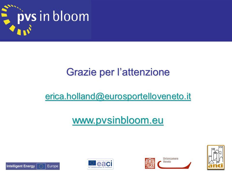 Grazie per l'attenzione erica. holland@eurosportelloveneto. it www