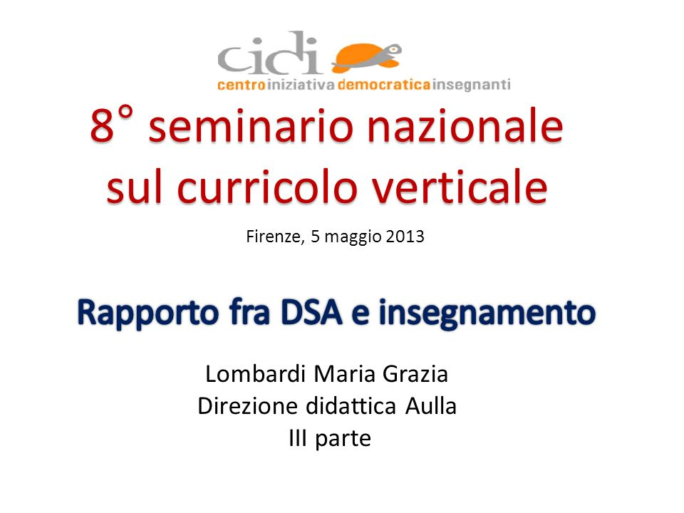 Rapporto fra DSA e insegnamento