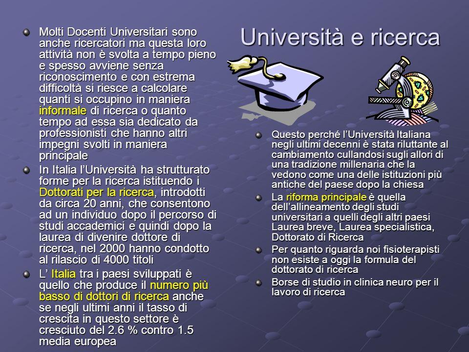 Università e ricerca