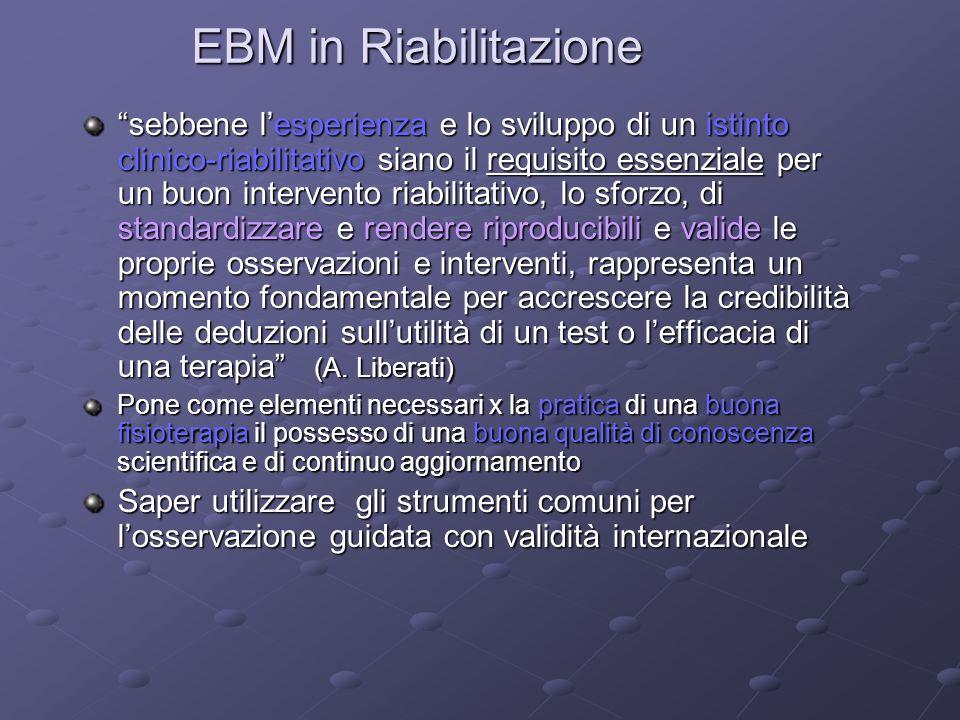 EBM in Riabilitazione
