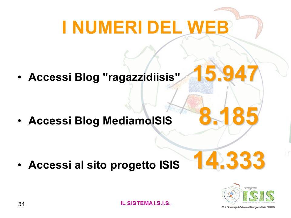 I NUMERI DEL WEB Accessi Blog ragazzidiisis 15.947