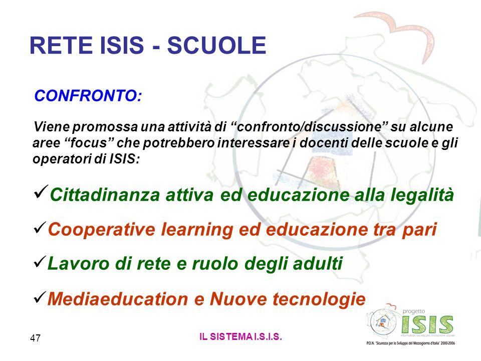 RETE ISIS - SCUOLE Cittadinanza attiva ed educazione alla legalità