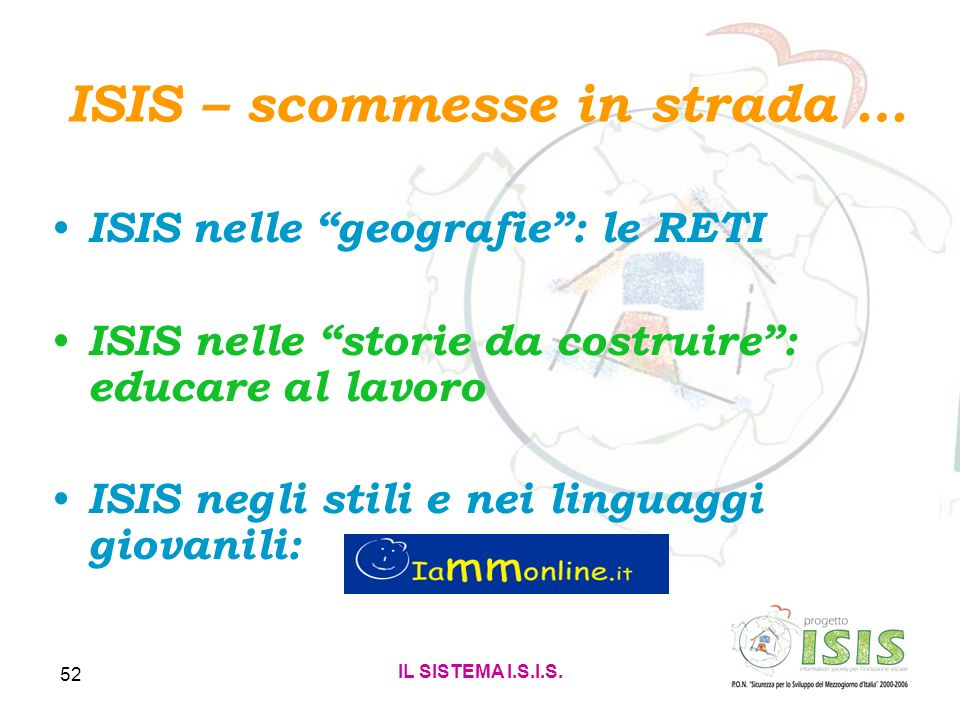 ISIS – scommesse in strada …