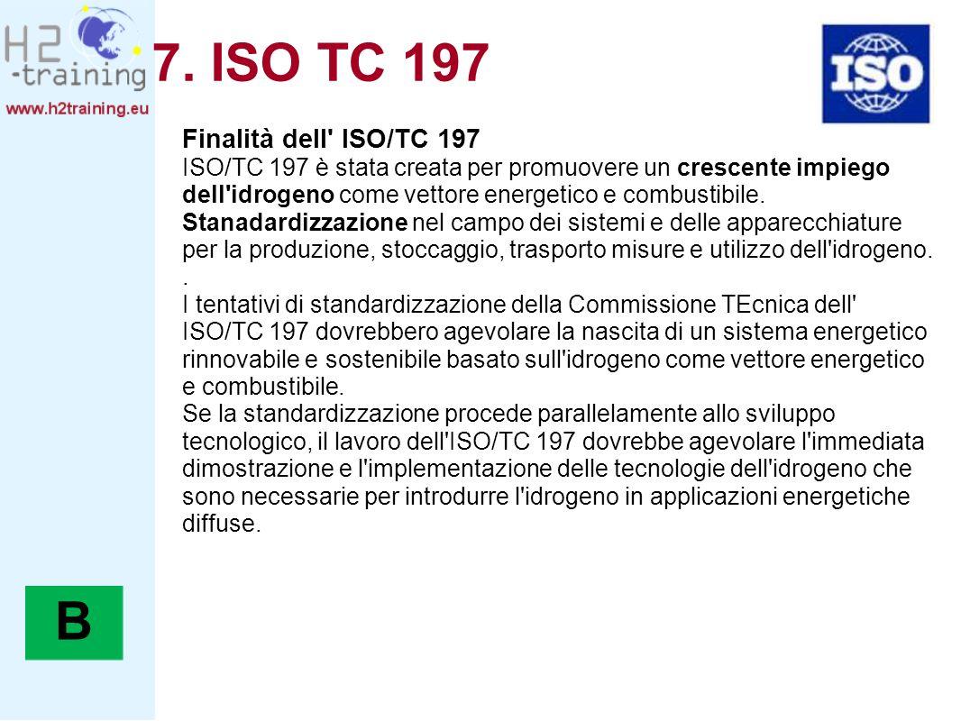 7. ISO TC 197 B Finalità dell ISO/TC 197