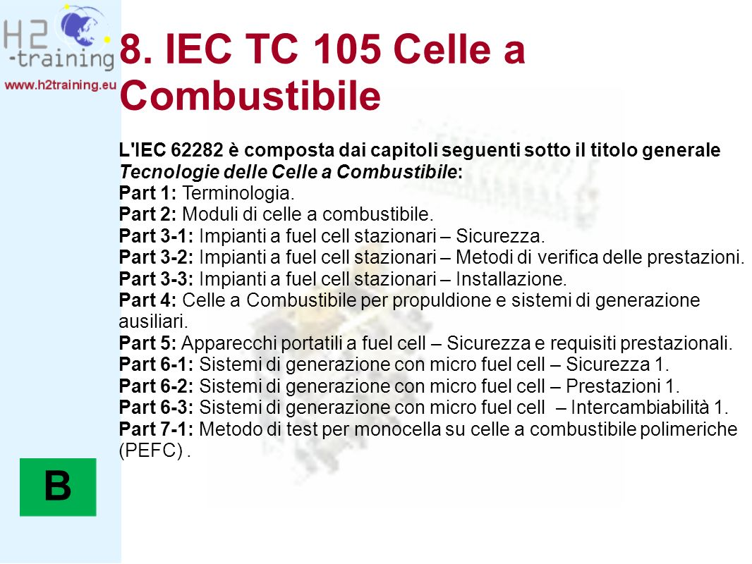 8. IEC TC 105 Celle a Combustibile