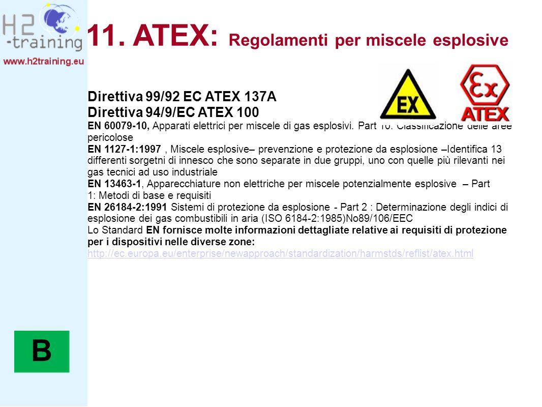 11. ATEX: Regolamenti per miscele esplosive
