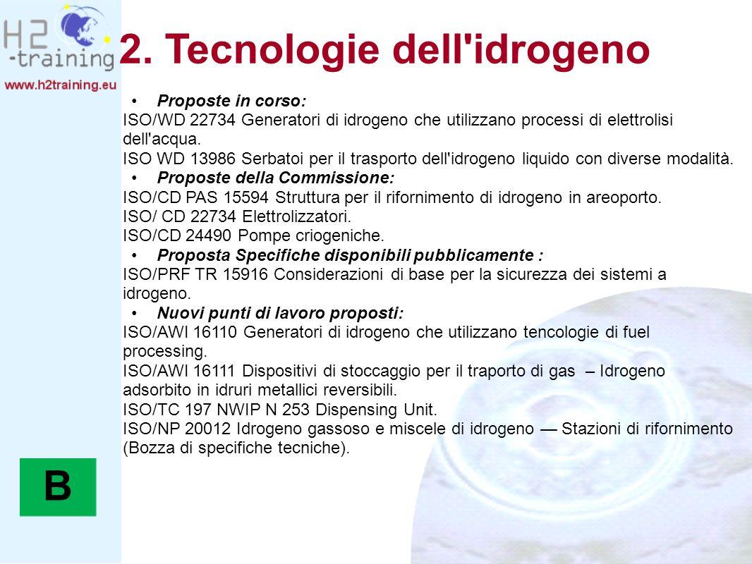 2. Tecnologie dell idrogeno