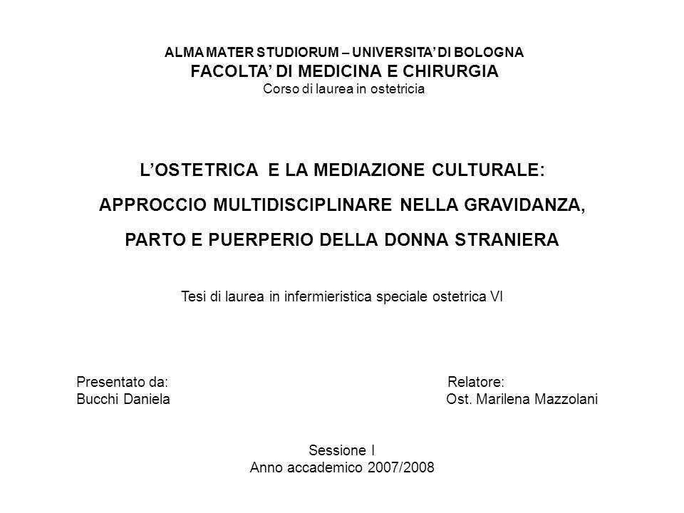L'OSTETRICA E LA MEDIAZIONE CULTURALE: