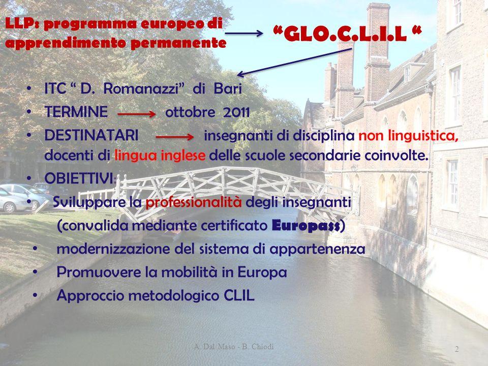 GLO.C.L.I.L LLP: programma europeo di apprendimento permanente