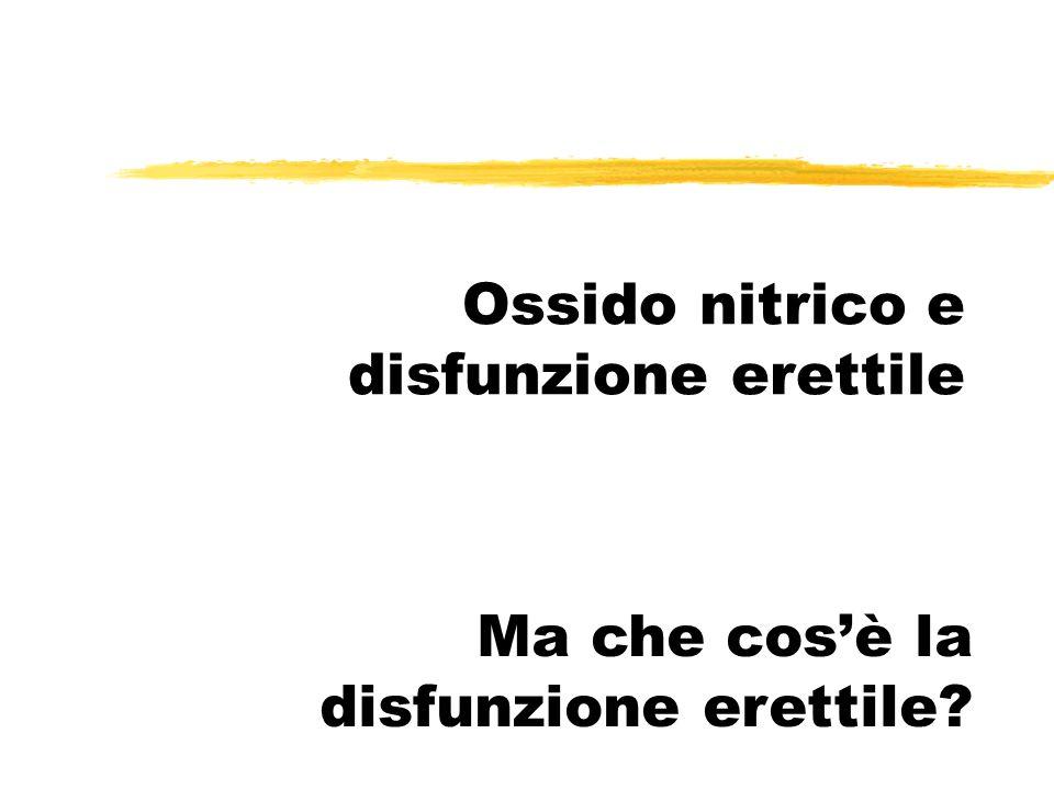 Ossido nitrico e disfunzione erettile